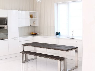 New in: Square Shaped Stainless Steel Dining Table