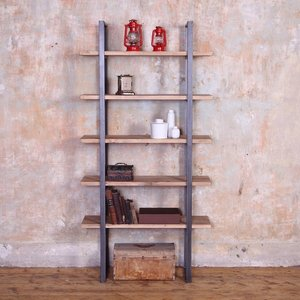Industrial Style Reclaimed Wood Shelving Unit