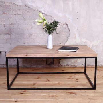 ... Industrial Metal Framed Coffee Table ...