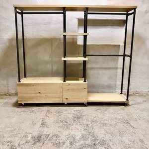 Industrial Style Wardrobe Unit