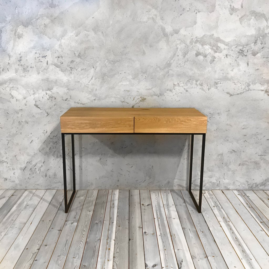 Industrial Console Table with Drawers cosywoodcouk