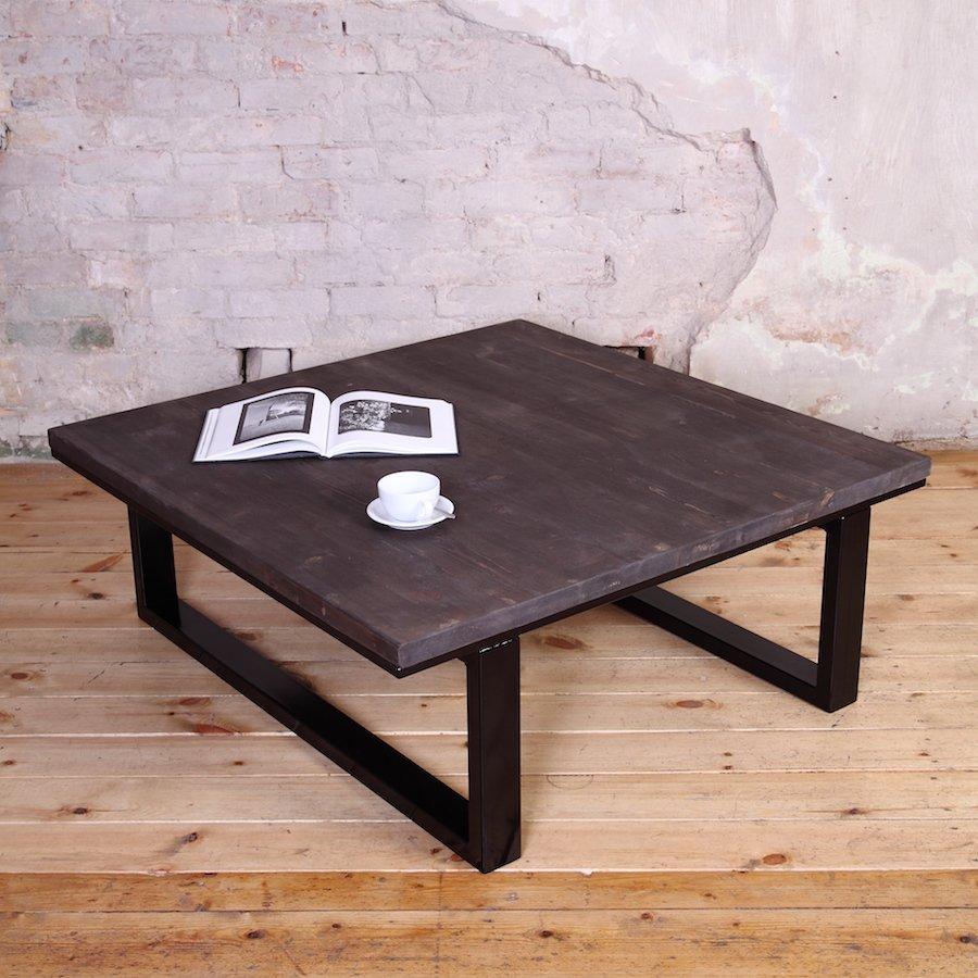 Modern industrial style coffee table for Modern style coffee tables