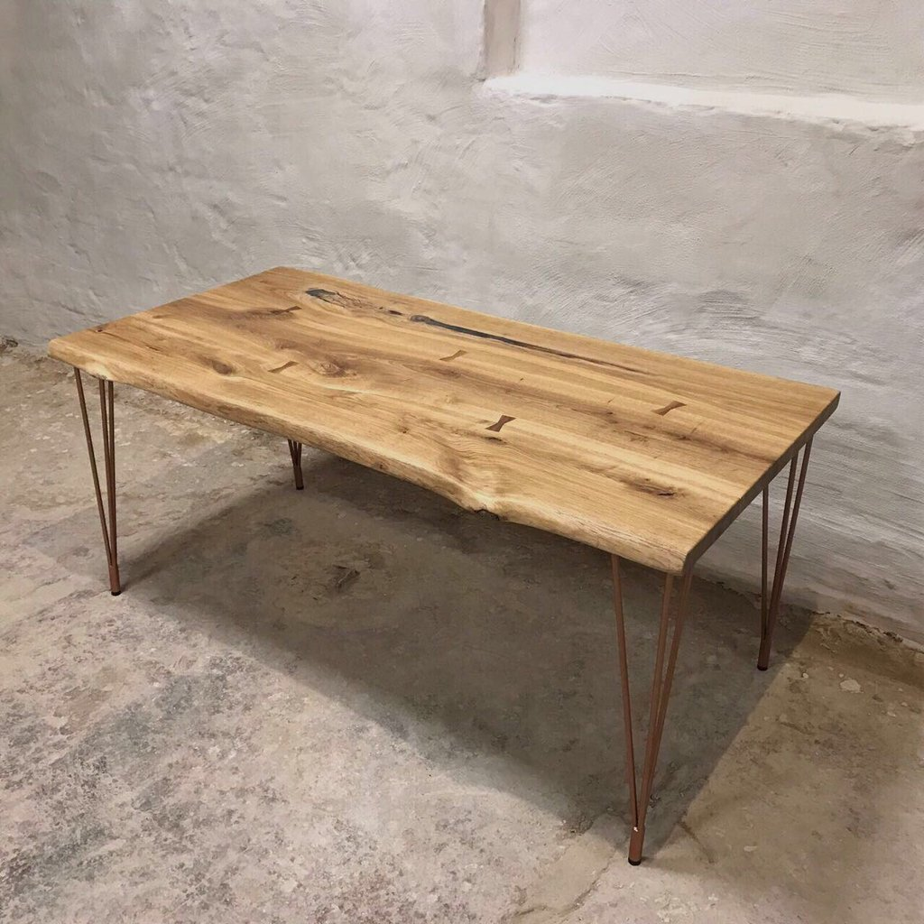 Live Edge Table With Hairpin Legs For Sale Uk Cosywood
