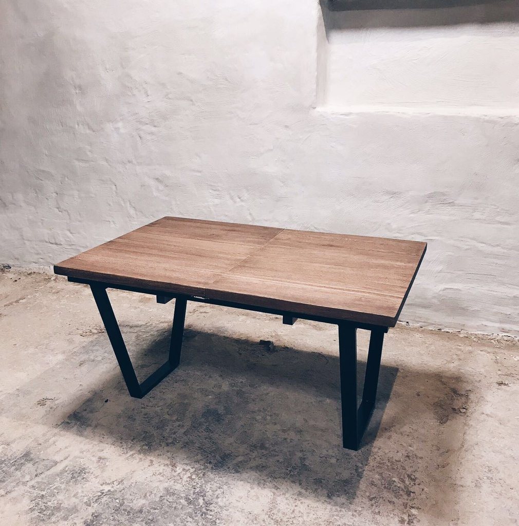 Industrial Extendable Dining Table cosywoodcouk