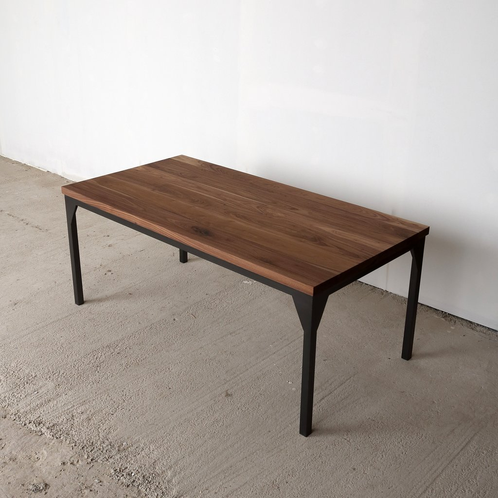 Industrial Style Coffee Table By Cosywood: Hampton Solid Walnut Top Dining Table For Sale In UK