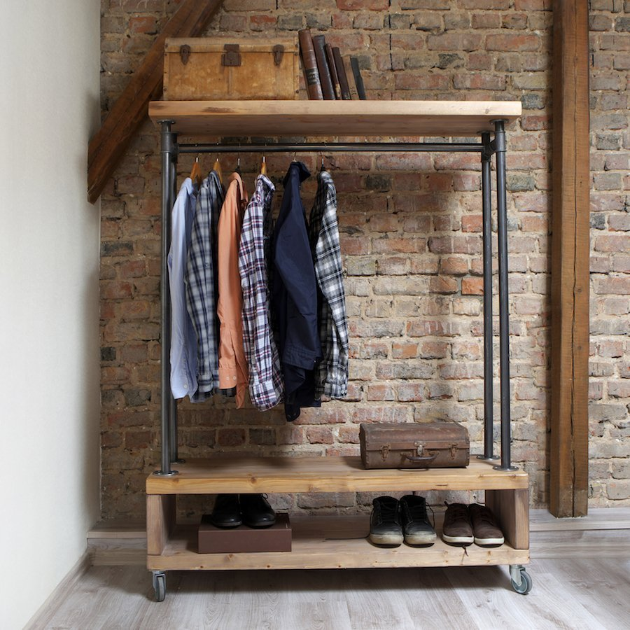Industrial Style Clothing Storage Unit | cosywood.co.uk