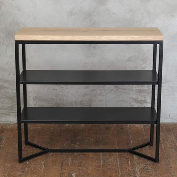 Solid Industrial Console Table