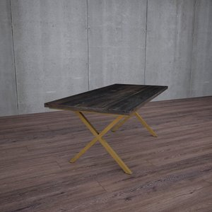 X Shaped Legs Table Variations
