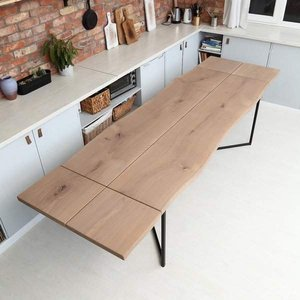 Two Slabs Extendable Dining Table