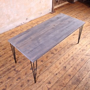 Hairpin Legs Industrial Dining Table
