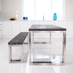 Square Shaped Stainless Steel Dining Table