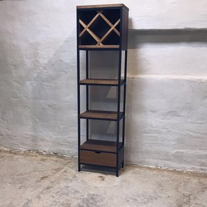 Industrial Style Wine Rack Unit