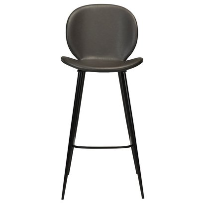 Cloud Bar Stool Grey Leather