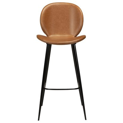 Cloud Bar Stool Light Brown Leather