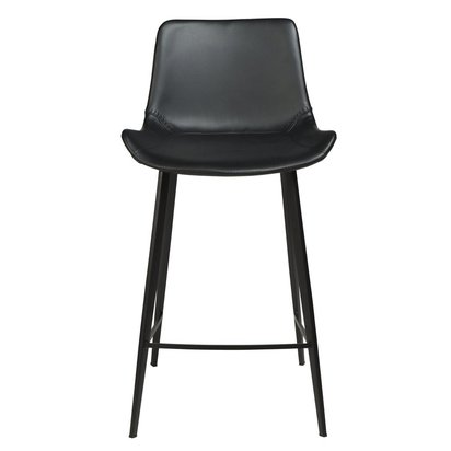 Hype Counter Stool Black Leather