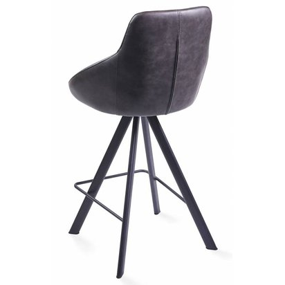 Alumna Light Grey Eco-Leather Bar Stool