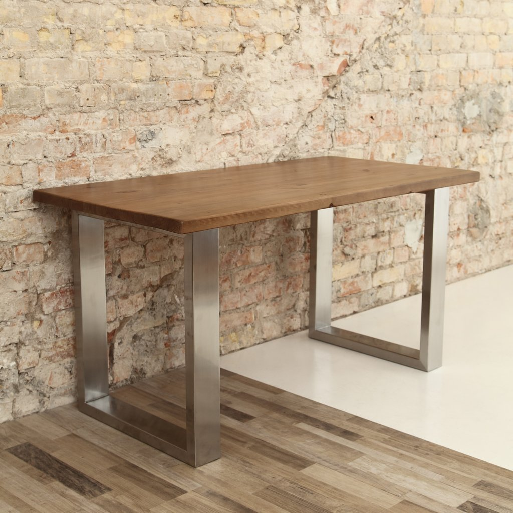 Steel Coffee Table Legs Uk: U Shaped Legs Modern Industrial Dining Table