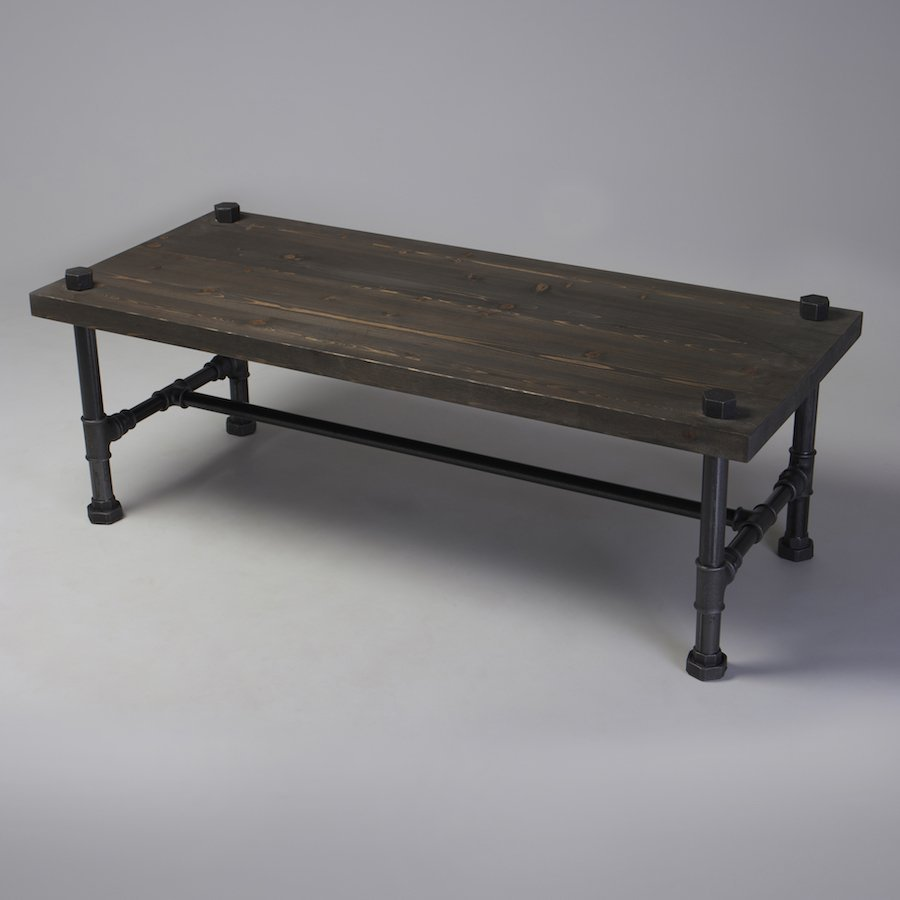 Industrial Themed Coffee Table: Classic Industrial Style Coffee Table