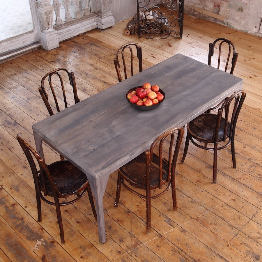 Contemporary industrial dining table industrial kitchen table Contemporary Industrial Dining Table
