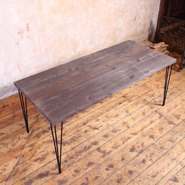 Hairpin Legs Table : Hairpin Legs Industrial Dining Table  cosywood.co.uk