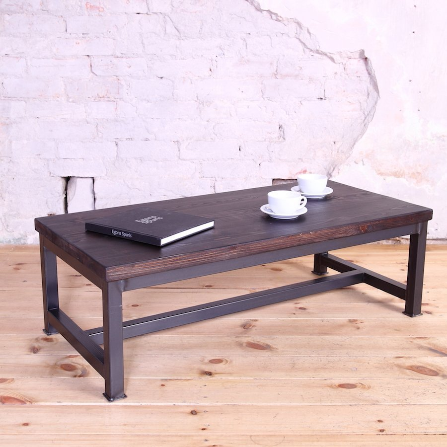 Sleek Steel Industrial Style Coffee Table Part 63
