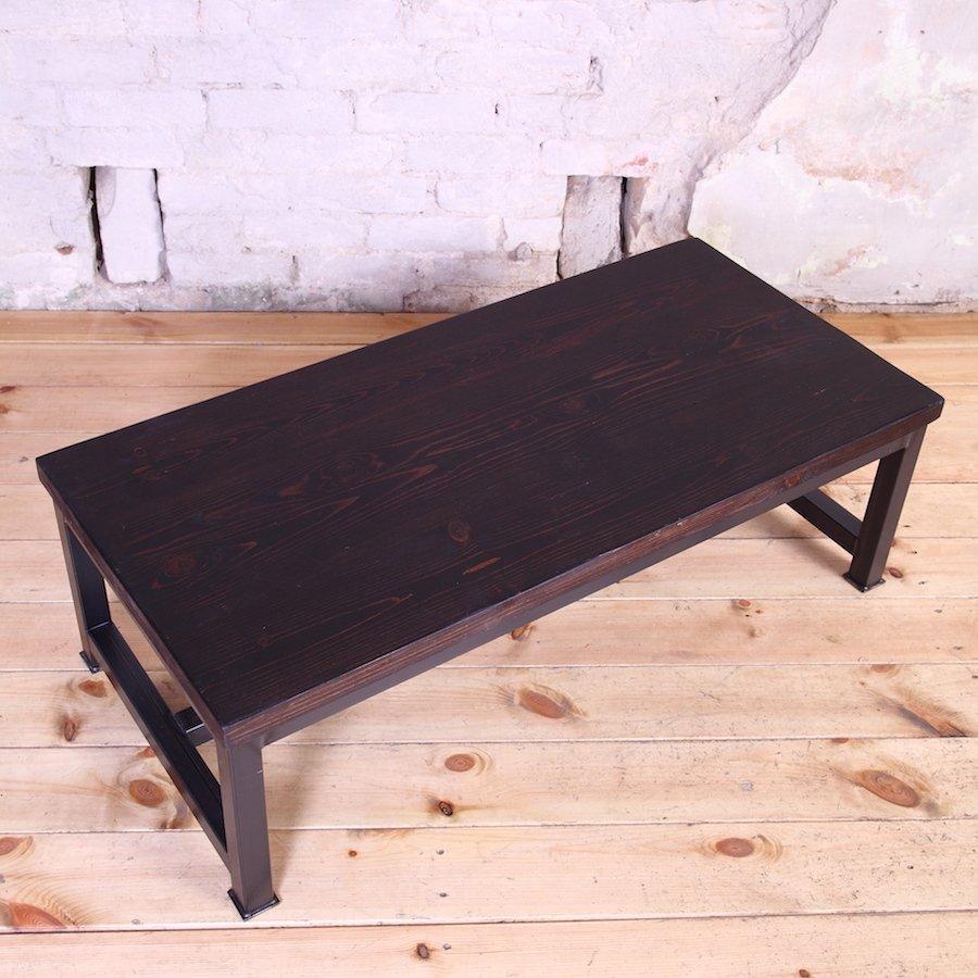 Industrial Coffee Table London: Sleek Steel Industrial Style Coffee Table