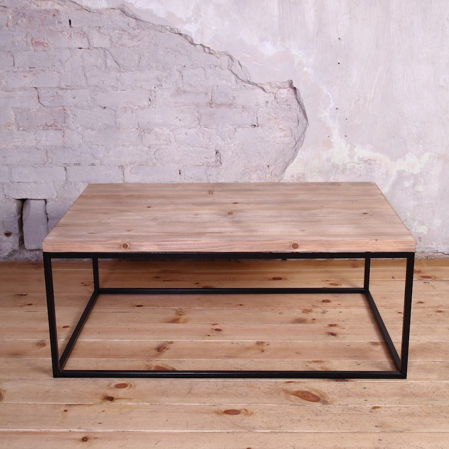 Industrial Metal Framed Coffee Table