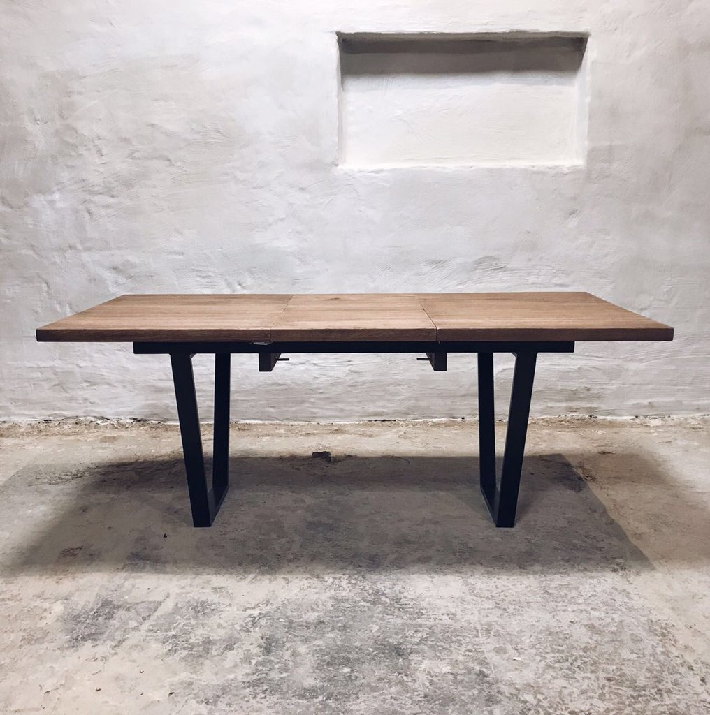 Small Industrial Dining Table: Industrial Extendable Dining Table