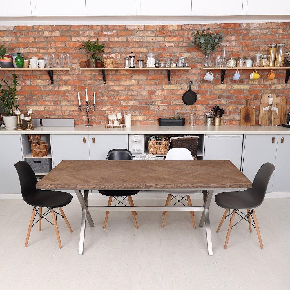 Herringbone oak dining table - Oak dining table uk ...