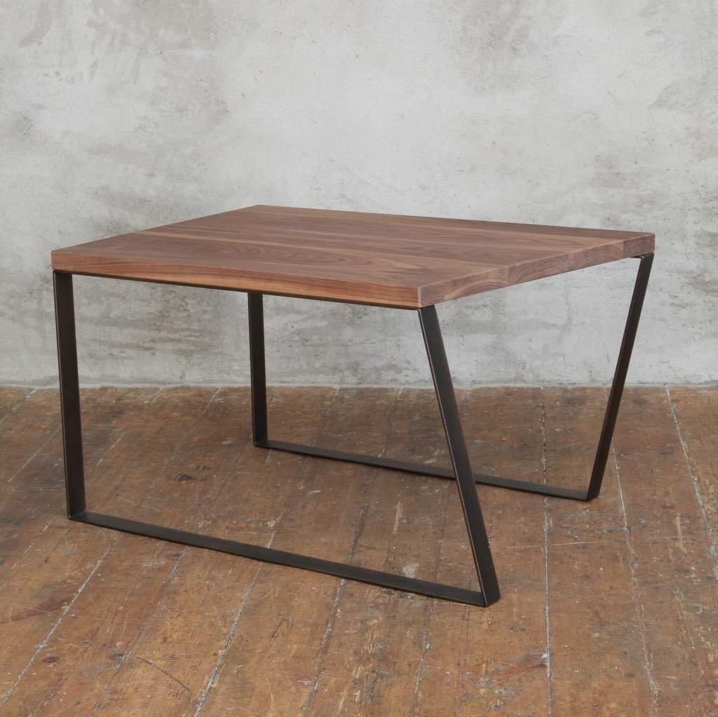 Industrial Coffee Table London: Leather Walnut Coffee Table
