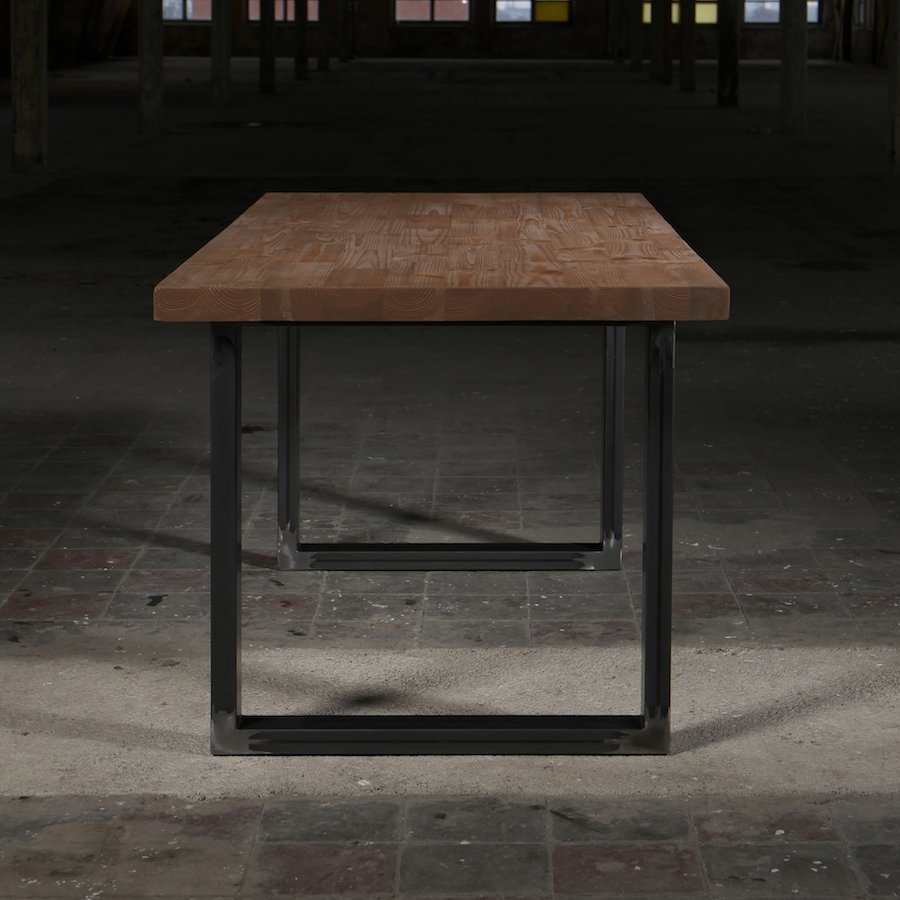 Deon Industrial Style Pattern Metal Rectangle Coffee Table: Holborn Tile Industrial Style Dining Table For Sale In UK
