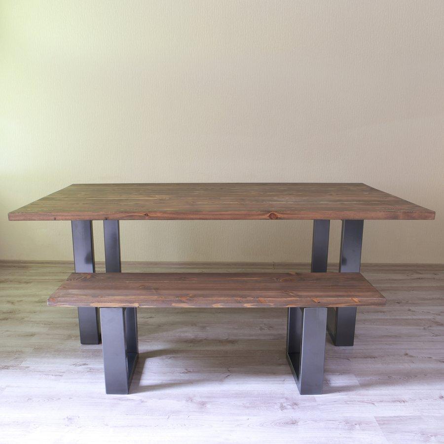 U Shaped Legs Modern Industrial Dining Table