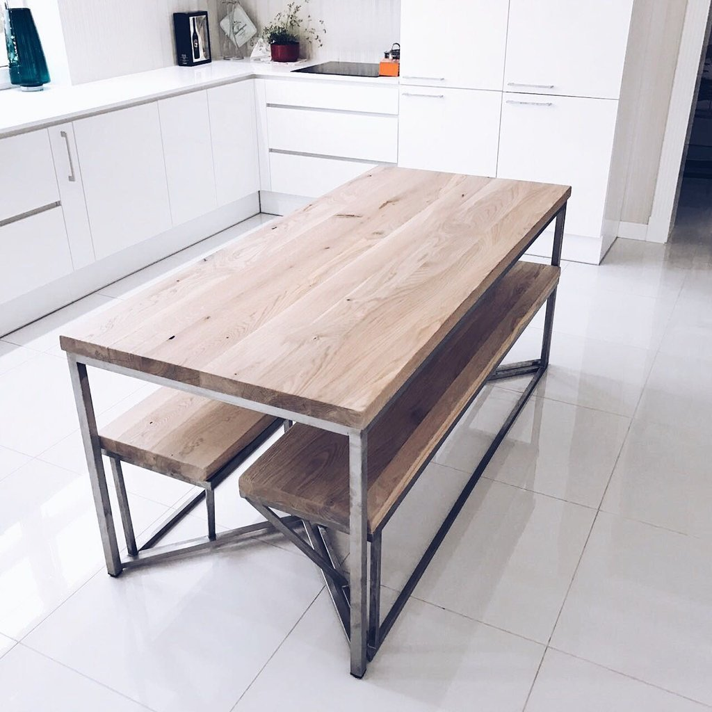 Solid oak stainless steel dining table for 10 seater solid oak dining table