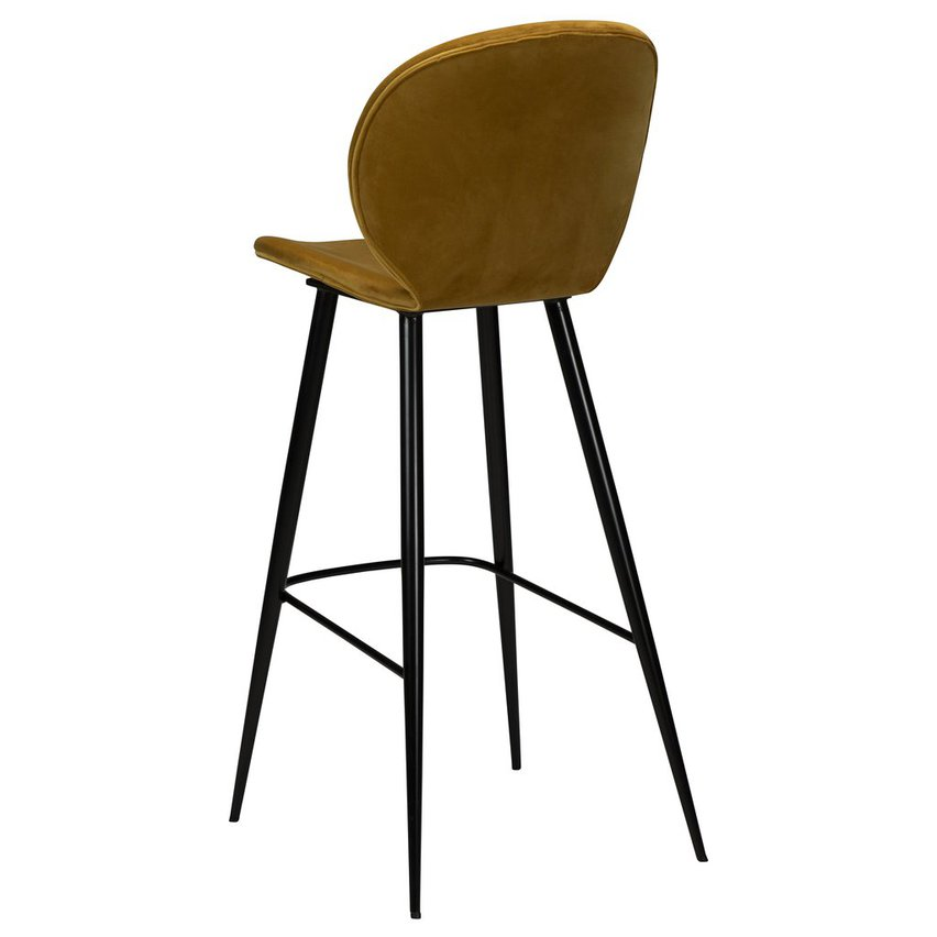 Cloud Bar Stool Bronze Velvet